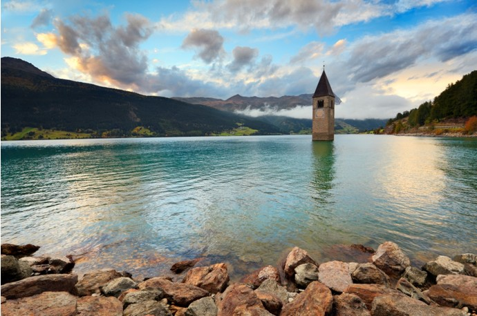Озеро Резия, Италия