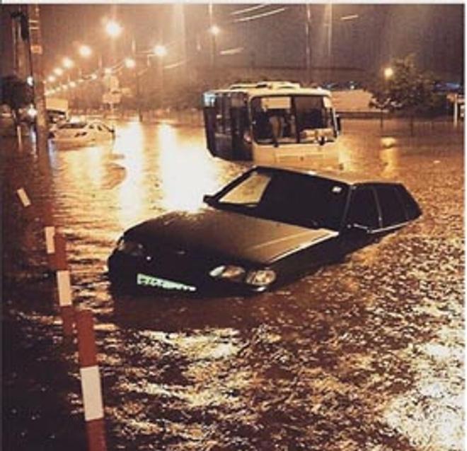 В Краснодаре полуторамесячная норма осадков выпала за полтора часа