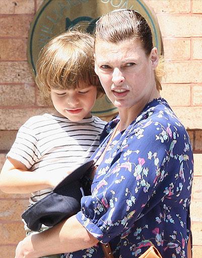 Линда Евангелиста (Linda Evangelista) с сыном