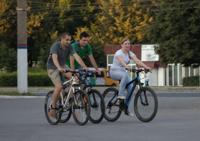 Велосипедисты в Туле
