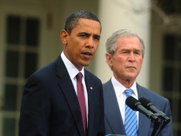 Барак Обама (Barack Obama) и Джорж Буш (George W. Bush) сравнялись в популярности