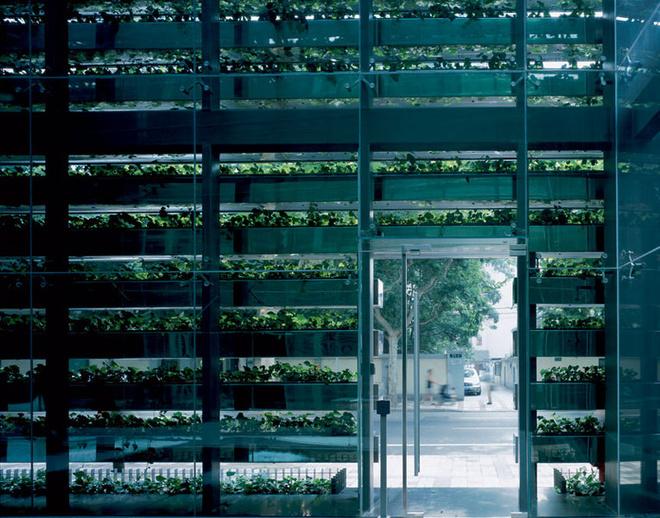Офисное здание Z58, архитектурное бюро Kengo Kuma & Аssociates, Шанхай, 2006.