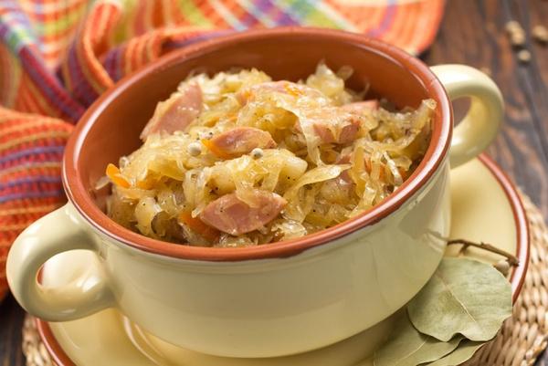 Рецепт тушеной капусты с мясом