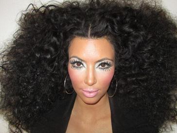 Ким Кардашьян (Kim Kardashian) в образе Дайаны Росс