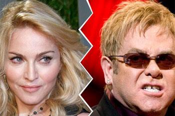 Мадонна и Элтон Джон.