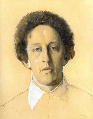 Портрет Александра Блока кисти Константина Сомова, 1907 год