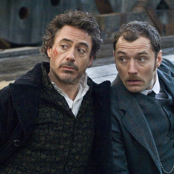 Холмс (Роберт Дауни-мл.) и Ватсон (Джуд Лоу).