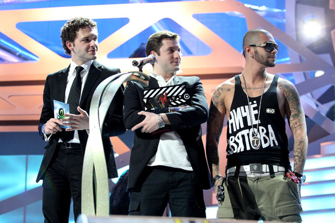 Лучшая кинокоманда прошлого года: Константин Крюков, Резо Гигинеишвили и Тимати
