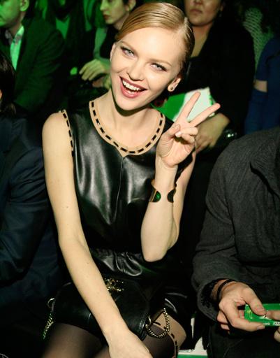 Лена Кулецкая на Mercedes-Benz Fashion Week Russia