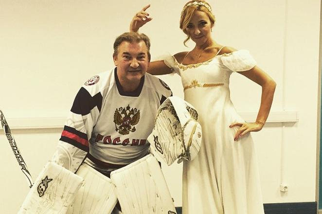 Владислав Третьяк и Татьяна Навка фото