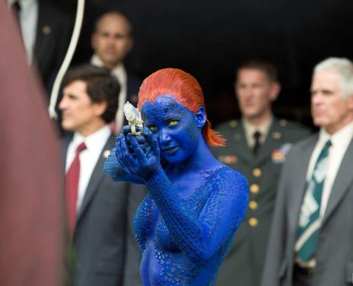 В роли Мистик – Дженнифер Лоуренс.