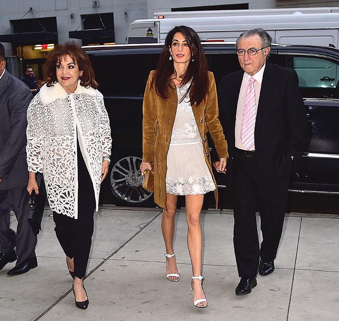 Амаль Клуни с родителями Барией и Рамзи Аламуддин