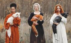 фотосессия московской фотохудожницы дружбе красивых девушек диких животных
