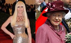 Донателла Версаче хочет одеть Елизавету II в черную кожу