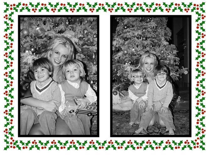 Бритни Спирс со своими сыновьями желает нам счастливого Рождества