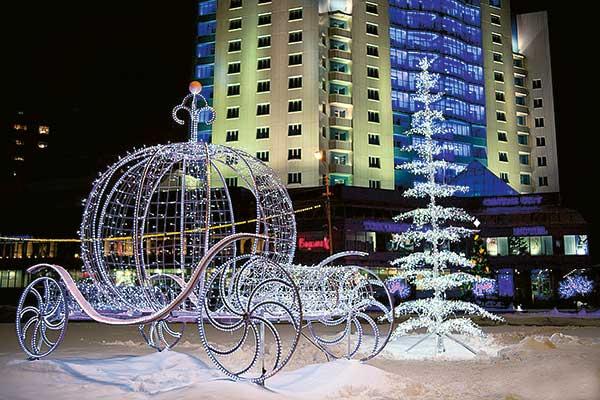 Снежные городки в Сургуте