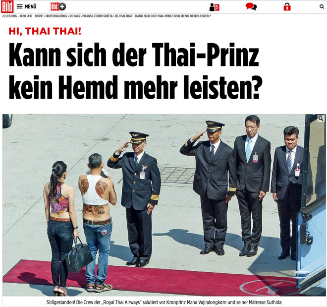 Новость на сайте немецкой газеты Bild