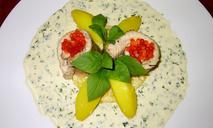 Стерлядь паровая со сливочным соусом