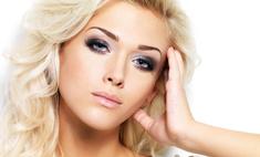 Вечерний макияж для голубоглазой красотки