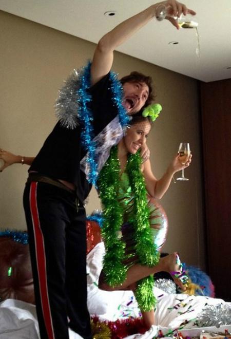 Ксения Собчак и Михаил Друян отмечают новый год фото