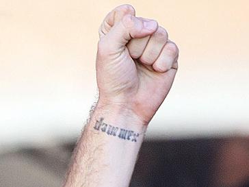 Арми Хаммер (Armie Hammer) и его татуировка