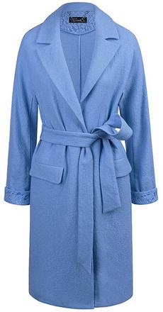 Голубое пальто с запахом Love Republic, фото