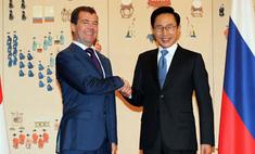 Дмитрий Медведев посетил Сеул и получил ученую степень