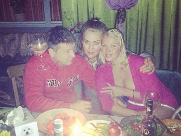 Анастасия Волочкова с друзьями