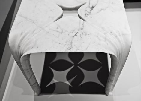 Мраморные вазы и столы от Захи Хадид   галерея [1] фото [9]