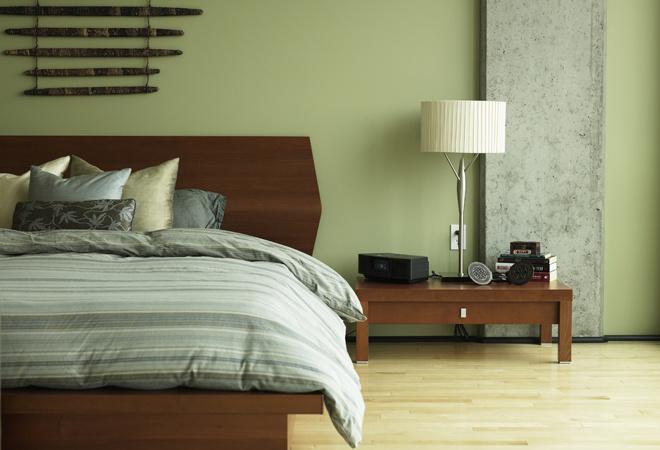 Спальня зеленая, фото