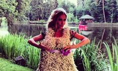 Юлия Ковальчук надела на себя клумбу