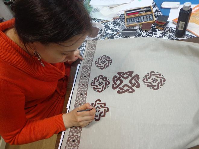 Печать по льняной ткани