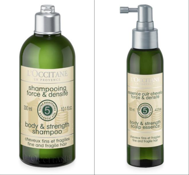 L'Occitane, шампунь и эссенция для кожи головы «Сила и густота волос»