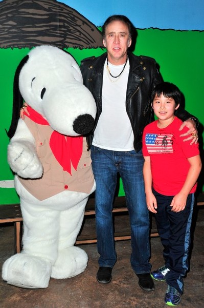 Ник Кейдж с сыном Кал-Элом