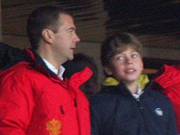Дмитрий Медведев и его 15-летний сын Илья