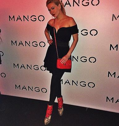 Таня Терешина на модном показе