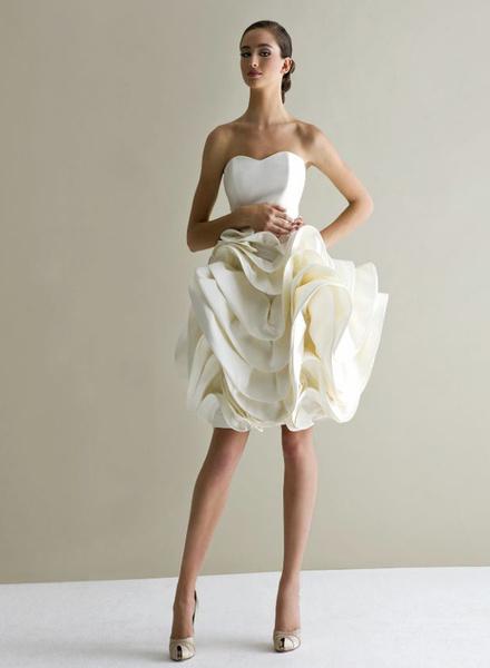 12 коротких платьев для невесты | галерея [1] фото [11]