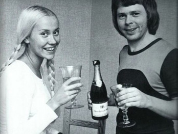 Агнета и Бьорн из группы ABBA.