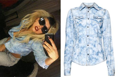 Леди ГаГа (Lady GaGa); рубашка Mango