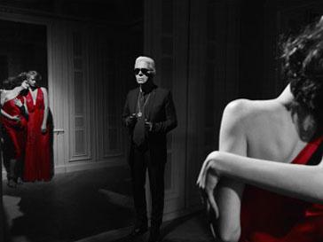 Карл Лагерфельд (Karl Lagerfeld) в образе вампира
