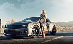 Девушки и автомобили: 30 шикарных снимков
