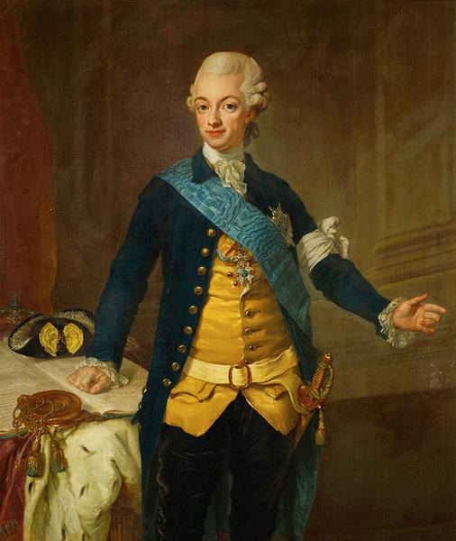 Портрет короля Густава III.