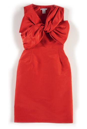 шелковое платье,Oscar de la Renta