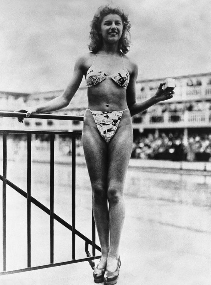 Мишель Бернардини в бикини (1946)