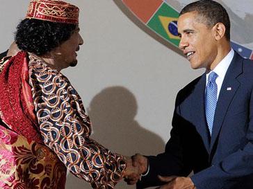 Когда-то Муаммар Каддафи (Muammar Kaddafi) и Барак Обама (Barak Obama) могли пожать друг другу руки