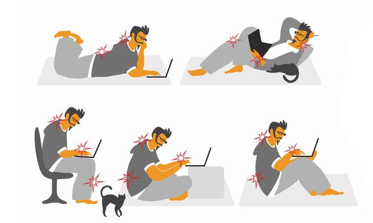 Фото №2 - Удаленка: организуй работу из дома так, чтобы не болела спина!