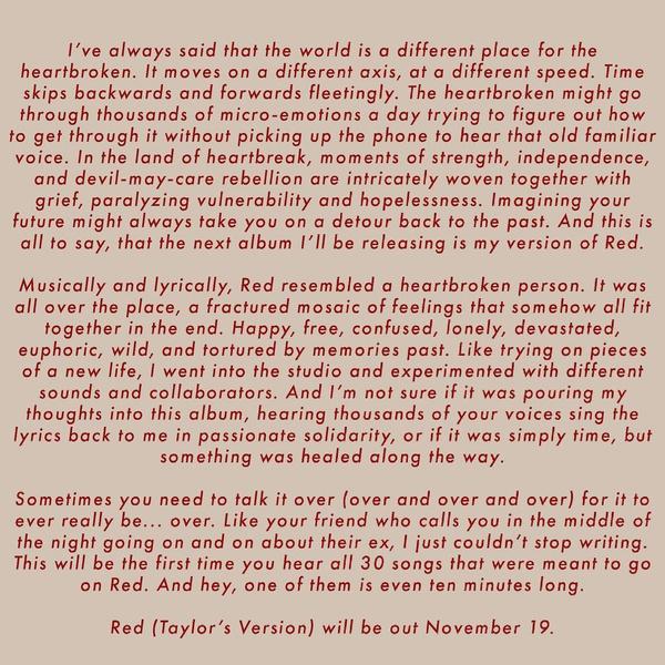 Фото №3 - О, ДА! Тейлор Свифт перезапишет легендарный альбом «Red»— узнай, когда выйдет новая пластинка