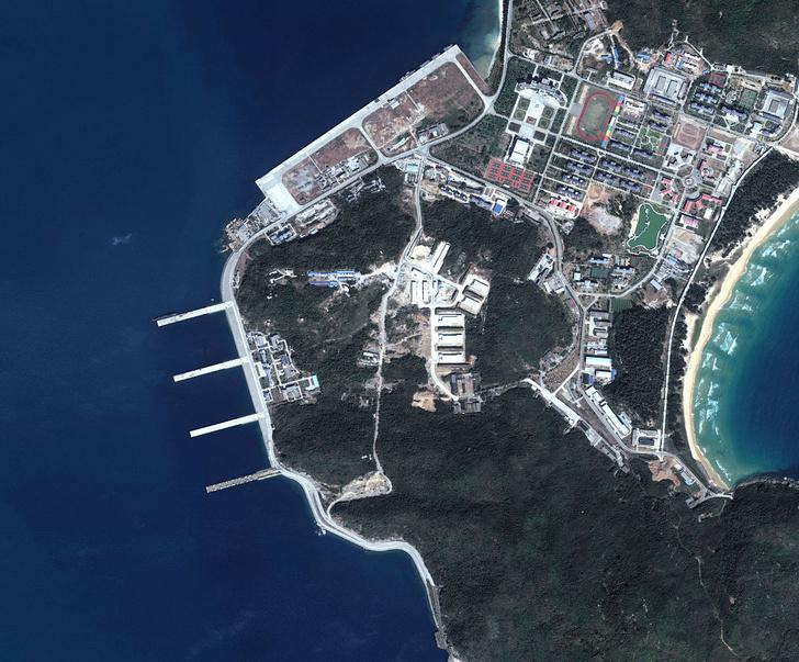 Фото №2 - Юйлинь: база атомных подлодок, которая была рассекречена благодаря случайному снимку со спутника