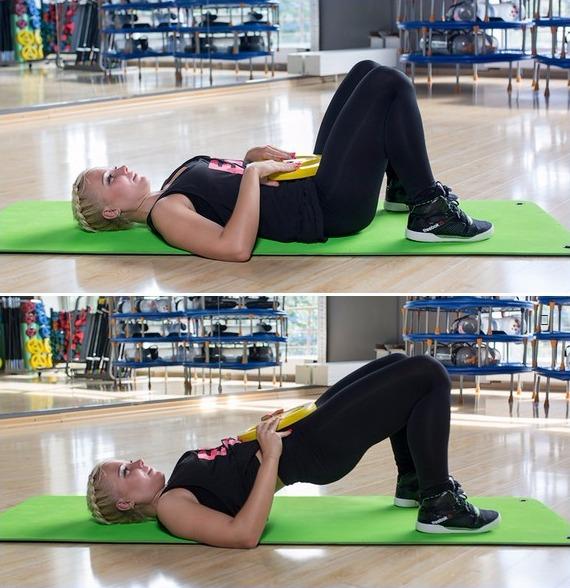 Упражнения для ягодиц - ягодичный мостик