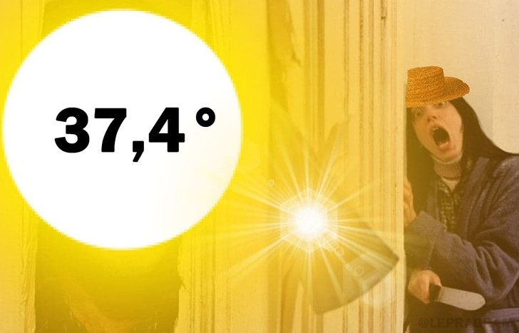 Фото №1 - «Такая жара, что Тимати опять убегает от скинхедов»: шутки и мемы о российской погоде